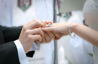 bride and groom wedding ring ceremony