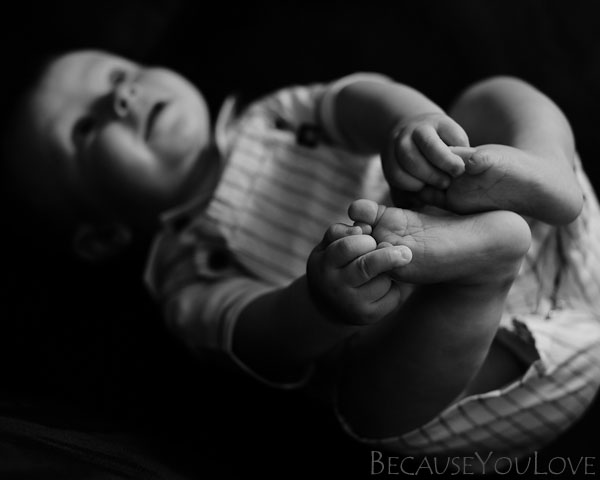 Portrait Photographer Robert Winton at Because You Love Photography captured this formal portrait of a new baby