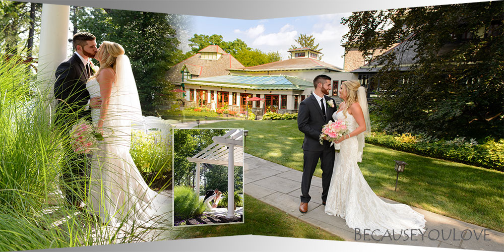 album panorama of romantic wedding portraits