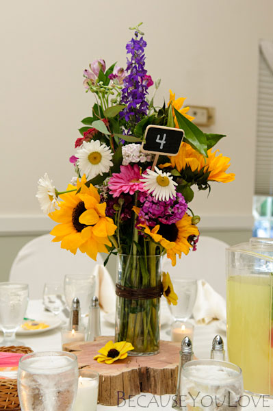 centerpiece at wedding reception