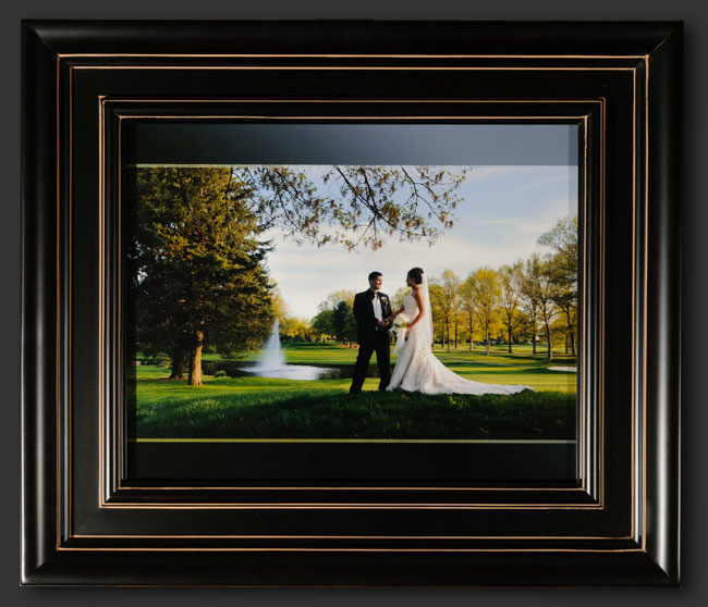 this romantic wedding portrait of the bride and groom has been artistically enhanced